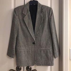 Jackets & Blazers - Women's vintage houndstooth blazer size L